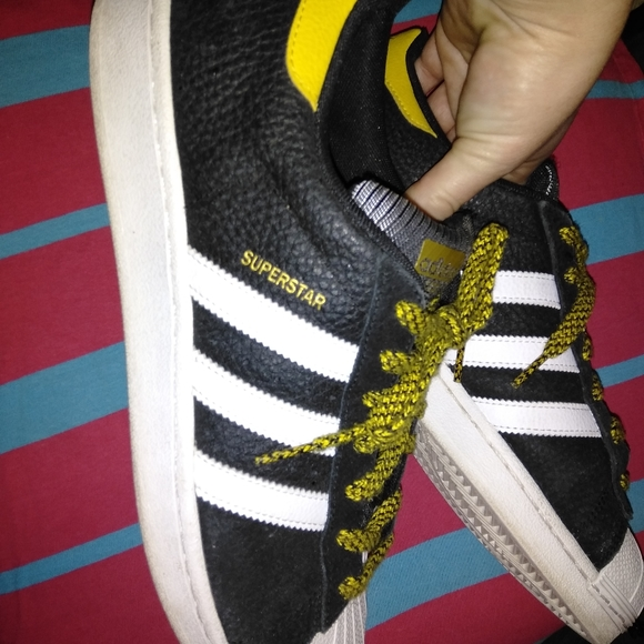 Black White And Yellow Shell Toe